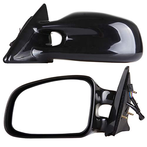 OCPTY Right Side Mirrors Fits for 1999-2003 Pontiac Grand Am Power Adjustment Non- Heated Black Non-Folding Replacement Rear View Door Mirror Passenger Side