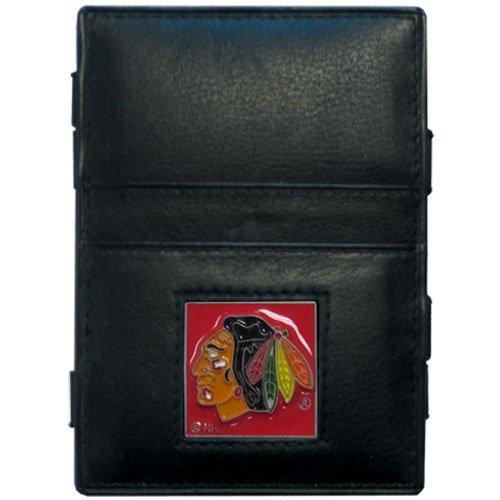 (NHL Chicago Blackhawks Genuine Leather Jabob's Ladder Magic Wallet)