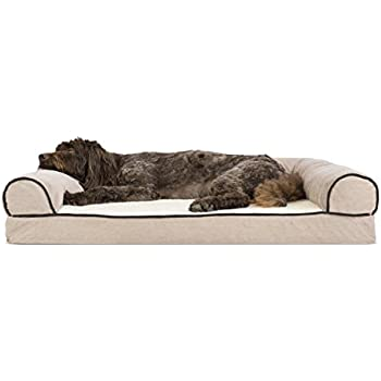 Amazon.com : Furhaven Pet Dog Bed | Deluxe Memory Foam Two