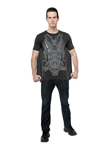 Rubie's Costume Superman Man of Steel, General Zod T-Shirt with Cape, Black/Gray, (Man Of Steel Zod Halloween Costume)