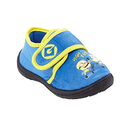 les minions Zapatillas de estar Por Casa de 100% Poliéster Unisex Niños azul/amarillo