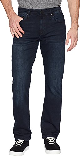 Mavi Jeans Men's Matt Mid-Rise Relaxed Straight Leg in Ink Brushed Williamsburg Ink Brushed Williamsburg 38 30