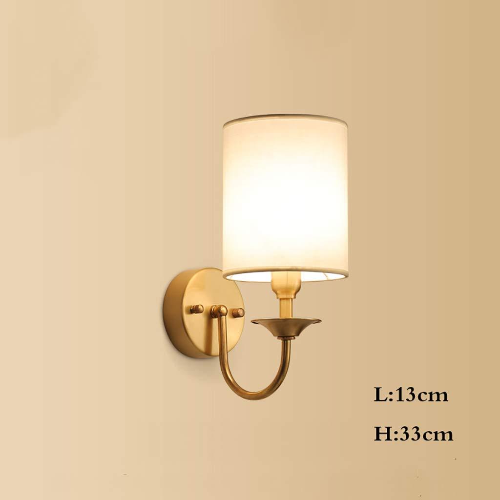 Wandlampe Nachttischlampe Kreative Persönlichkeit Reinkupfer Haushalt Einfache Wand Gang Korridor Lampe (Farbe   C)