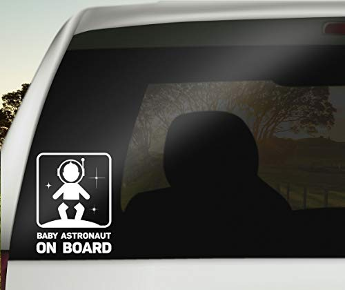 Skater Babycalla Baby on Board Signs for Car Windows Sticker White Vinyl Boy and Girl