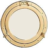 11.5'' Polished Brass Nautical Porthole Mirror