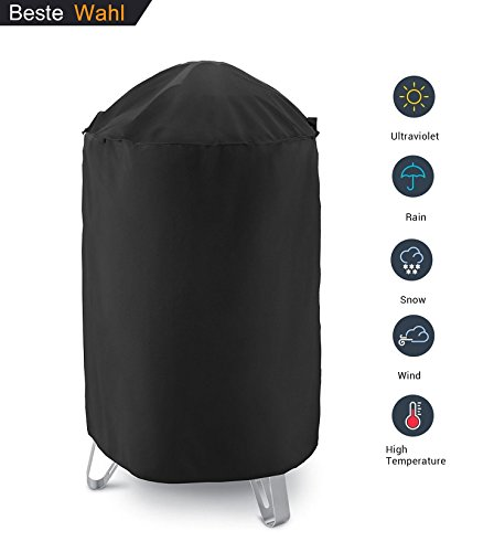 AKEfit Dome Smoker Cover, 30'' Dia x 36'' H,Heavy Duty Waterproof Barrel Cover, Vertical Water Smoker Cover, Round Kettle Grill Covers, All Weather Protection for Weber, Char-Broil and More by AKEfit