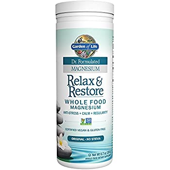 Garden of life dr formulated magnesium relax restore original 190g powder for Garden of life relax and restore