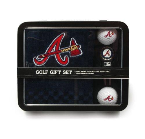 MLB Atlanta Braves Embroidered Golf Towel, 2 Golf Balls, And Divot Tool Set