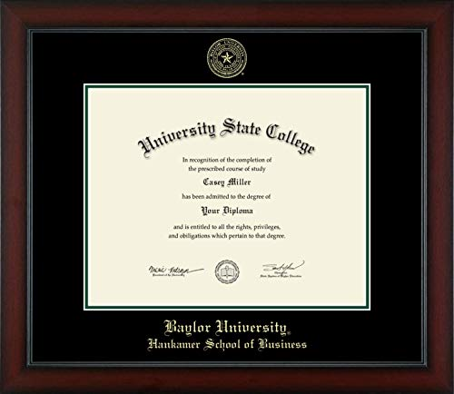 Baylor University Hankamer School of Business - Officially Licensed - Gold Embossed Diploma Frame - Diploma Size 14