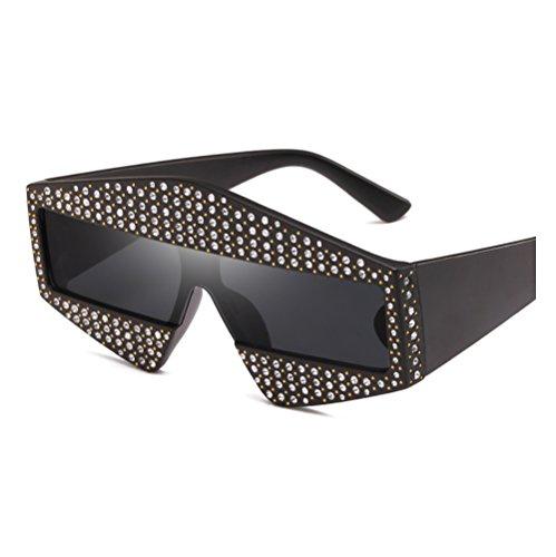 Irrégulières Fashion Sunglasses Femmes Noir Protection Soleil UV de Lunettes de ZYXCC Lunettes pour Diamond YANJING 71qpCp