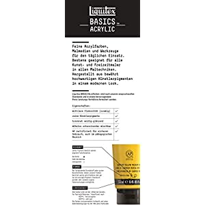 Liquitex BASICS 5 Tube Acrylic Paint Set, 4x75ml, 1x118ml