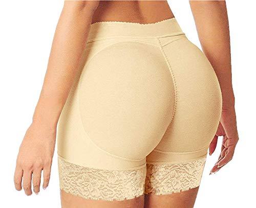 Lelinta Womens Butt Lifter Hip Enhancer Shaper Boyshort Control Panties Fake Ass Push Up Padded Buttock