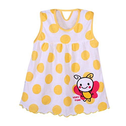 WOCACHI Girl Baby Infant Cartoon Flower Children Dot Floral Tees Dress T-Shirt Vest 2019 Summer Under 5 Dollars New Deals Sales Bargains]()