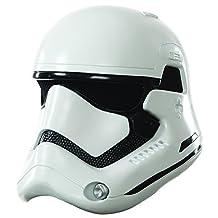 Star Wars Episode VII: The Force Awakens Adult Stormtrooper 2-Piece Helmet, White, One Size