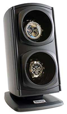 [Newly Upgraded] Versa Automatic Double Watch Winder in Black