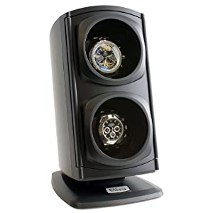 [Newly Upgraded] Versa Automatic Double Watch Winder in Black – Quiet Japanese Motors, Independently Controlled Settings, 12 Different Settings, Adjustable Watch Pillows