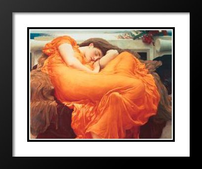 Frederic Leighton Framed and Double Matted Art Print 25x29