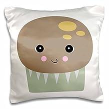 Decorative Silk Pillow Cover St Bernard Dog Dad Saint Doggie x Breed Brown Muddy Paw Prints Doggy Pillow Case 16X16 Inch Cushion Cover