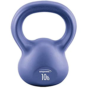 Empower 10 lb. Comfort Grip Kettlebell with Total Body Workout