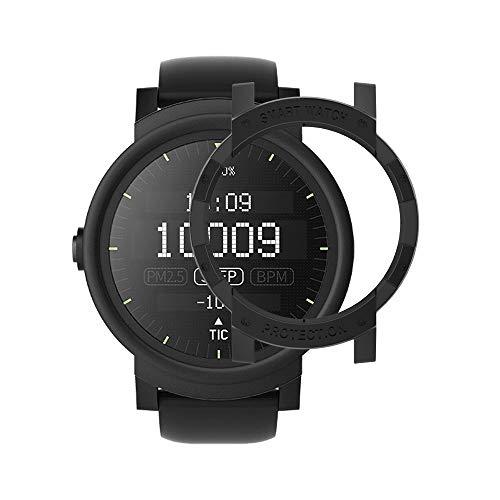 Ticwatch E Case SIKAI Anti-Scratch Protective Bumper Cover Ticwatch E Smart Watch Ultra Light Multi-Colors (Black)
