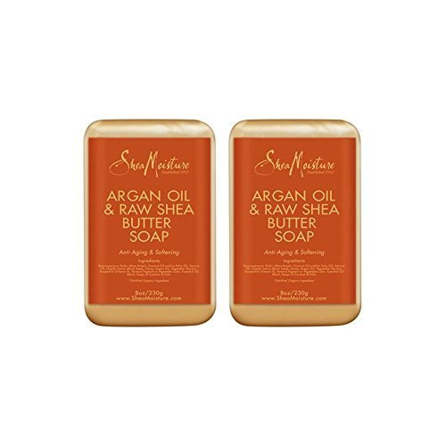- SheaMoisture Argan Oil & Raw Shea Butter Soap - 8 oz (2 Pack)