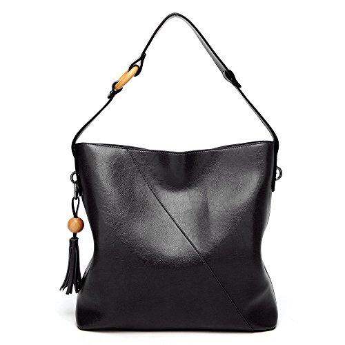 JPFCAK Sac à Bandoulière Lady Simple Sac à Bandoulière Big Bag Black