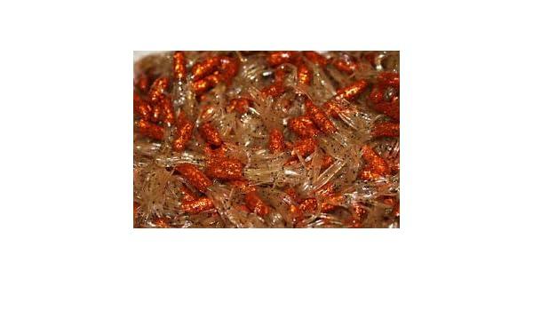"Pumpkinseed Crappie Fishing Tube Jig Skirts Bluegill 100 pk 1.5/"" Scale Orange"