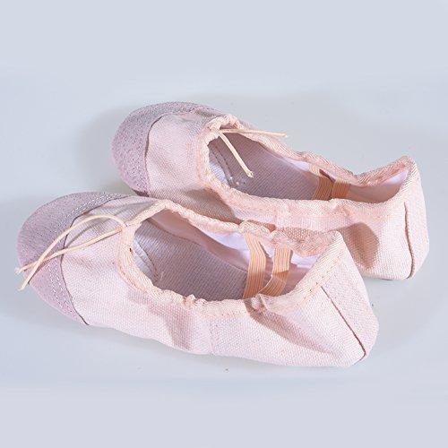 Appartements Souple De 29 Beige Enfant Elegantstunning Pointe Ballet Confortable Chaussons Fille Danse Respirant Dance Yoga Chaussures Femme YZ0aAq