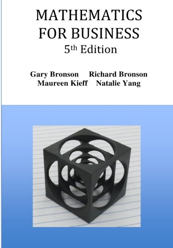 Mathematics fo Business: Fifth Edition