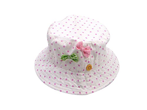 Carino Pescatore Sun Cappello Baby Bob Girl Bowtie Toddler Acvip Summer Holiday Pea Anti wx8Btt