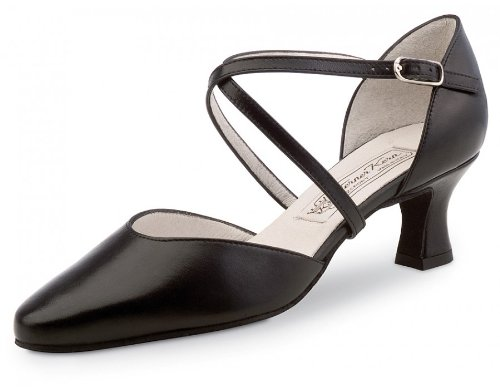 Werner Kern Women's Patty - 2 1/4'' (5.5 cm) Latin Heel, Black Leather, 9 M US (6 UK)