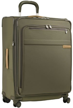 Delsey Lightweight Duffel (Briggs & Riley 28 Inch 4 Wheel Expandable Upright Spinner - Olive - Free 3 Day Shipping Upgrade)