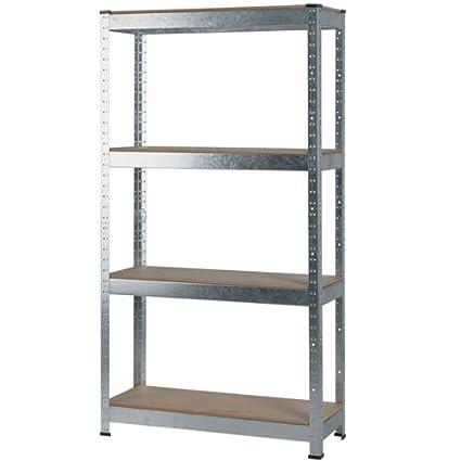 Amazon com: Stratco 4 Shelf Slot and Lock Galvanized Shelf