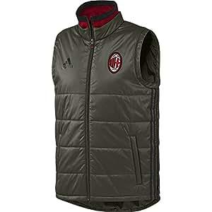 adidas AC Milan Pad Chaleco, Hombre, Verde/Negro/Rojo, XS