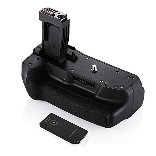 Powerextra BG-E18 Battery Grip for Canon EOS 750D/Rebel T6i, 760D/Rebel T6s, Digital Camera with Infrared Remote Controller, Work with 1/2 pcs LP-E17 Batteries