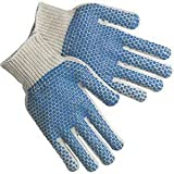 Blue dotted knit gloves (men) 240 pairs