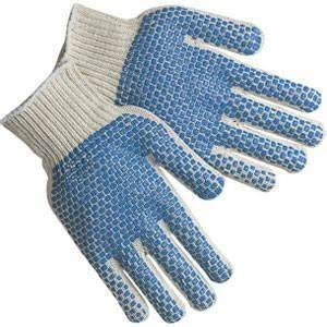 Blue dotted knit gloves (men) 240 pairs by ESM (Image #2)