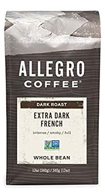 Allegro Coffee Extra Dark French Whole Bean Coffee, 12 oz