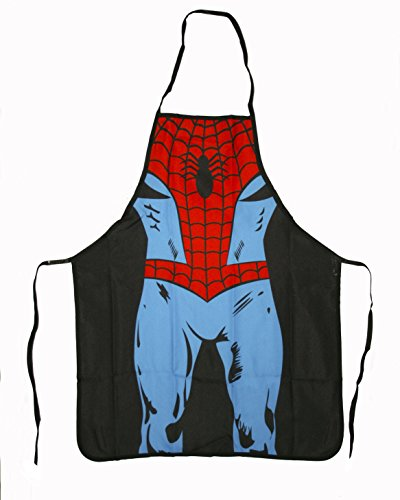 Comic Character Multipurpose Apron. Ideal for a Cook, Chef, Housewife, Artist, or a Griller - Light, but 100% Polyester, a Strong Resistant and Durable Material Per Se. Quality Print - Very Colorful, Fun, and Creative - Costume Alternative! Be a Hero or Heroine on the Grill, Kitchen, or At Work! (Spiderman) (Creative Funny Costume Ideas)