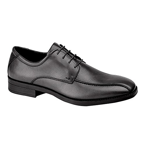 Eye Tie Shoe - Imac Mens 4 Eye Tramline Tie Shoes (10 US) (Black)
