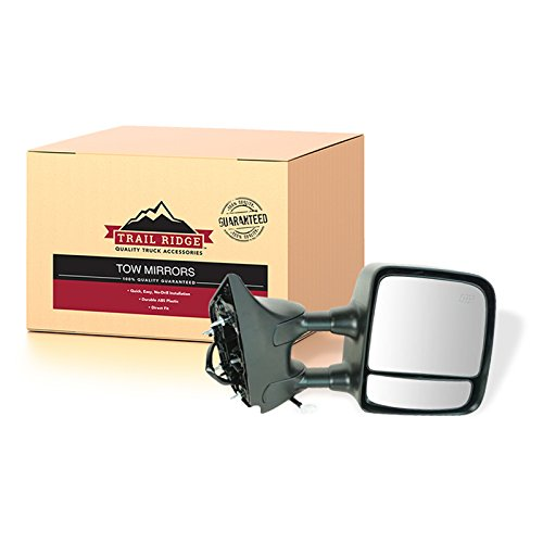 (Trail Ridge Towing Mirror Power Heated Black Passenger Side Right RH for Titan)