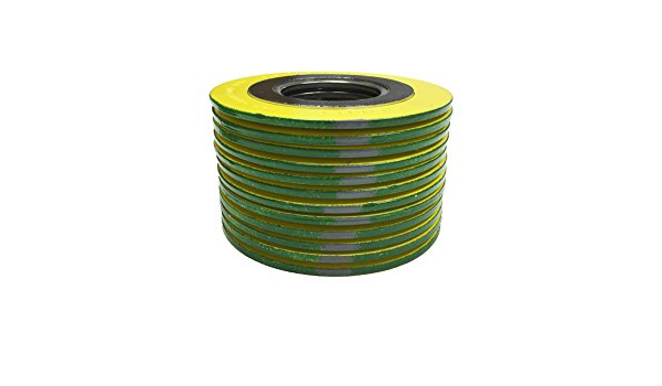 for 10 Pipe Supplied by Sur-Seal Inc Sterling Seal 9000IR10316GR1500X24 316L Stainless Steel Spiral Wound Gasket with 316SS Inner Ring and Flexible Graphite Filler of NJ Green Band with Grey Stripes Pack of 24 for 10 Pipe