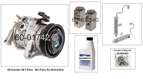 New AC Compressor & Clutch With Complete A/C Repair Kit For Jeep Grand Cherokee - BuyAutoParts 60-80447RK New
