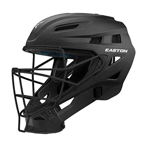 EASTON ELITE X Catcher's Helmet | Small | Matte Black | Baseball Softball | 2020 | High Impact Absorption Foam | Moisture Wicking BIODRI liner | High Impact Resistant ABS Shell | Ergonomic Chin Cup