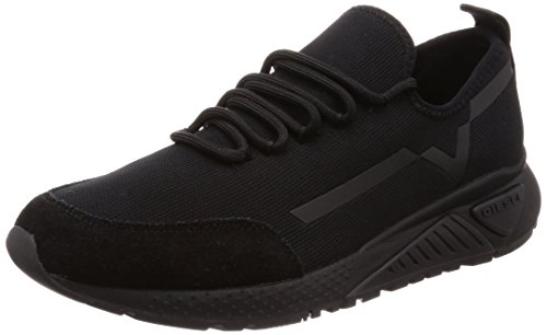 - Diesel Men's SKB S-KBY Stripe - Sneakers, Black, 8.5 M US