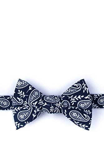 Biff Navy Blue Cotton Bow Tie