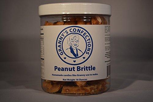 Handmade Peanut Brittle. Voted Best Peanut Brittle. - One Pound (16 oz) Container Artificial Peanut Brittle