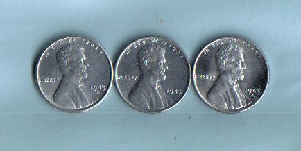 - 1943-PDS Lincoln Steel Cent Set