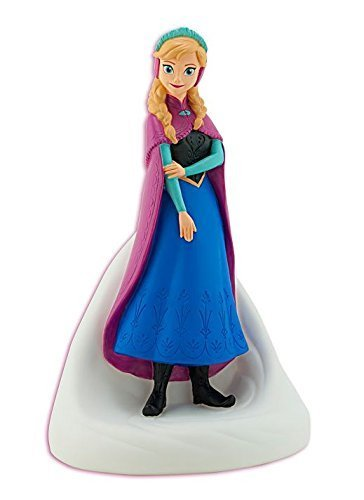 Little Princess Ceramic - 9 Inch High Plastic Disney Princess Anna Frozen Coin Bank Molded Coin Piggy Saving Bank with Pink Wallet