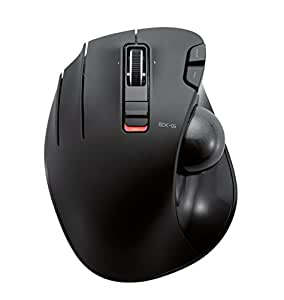 ELECOM M-XT4DRBK Wireless Trackball mouse for Left-Handed, EX-G series L size 2.4GHz 6 buttons Black